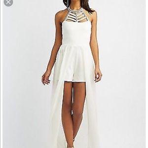 Dresses & Skirts - Embellished White Romper